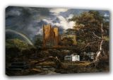 Ruisdael, Jacob Isaaksz. or Isaacksz. van: The Jewish Cemetery. Fine Art Canvas. Sizes: A3/A2/A1 (00380)